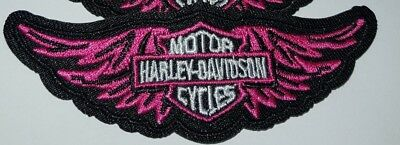 PINK WINGS HARLEY DAVIDSON  iron on patch