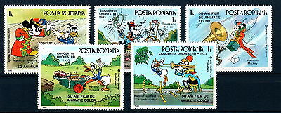 X0 Disney 605 Romania SC# 500 Goofy on Moon Set of Stamps