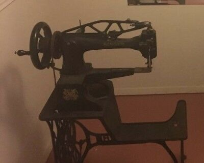 GREAT Antique Industrial Singer 29K shoe patching:cobbler Sewing Leather Machine