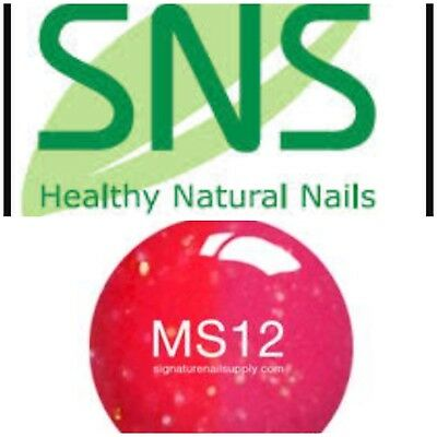SNS #MS12 Mood Changing Signature Nail Systems Dip Colour NEW & PREBONDED AUS