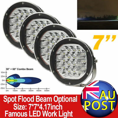 "4X7"" 270W CREE Spot Flood Combo LED Driving Lights HID Truck SUV 4WD With Mask"