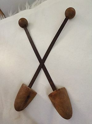 Vintage Antique Wooden/Metal Shoe Stretchers. Excellent Condition