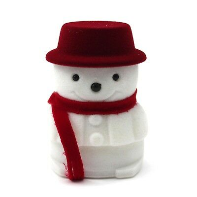 Pop!Christmas Xmas Gift Snowman Ring Earring Jewelry Collection Box Storage Case
