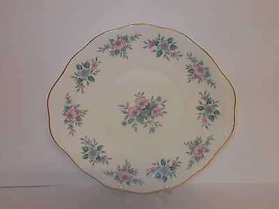 Colclough Bone China Cake Bread Plate with Floral Design Lovely