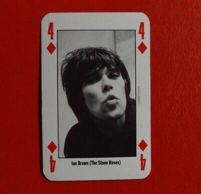 Ian Brown - STONE ROSES - playing card - NME leader of the pack - 1990s rare