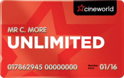 12 (13 with code) Months Cineworld Unlimited Card incl London West End