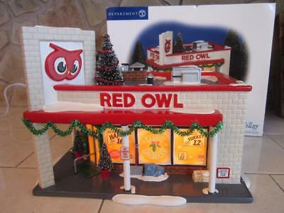 Dept 56 Snow Village Red Owl Grocery Store