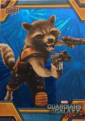2017 Walmart Guardians of the Galaxy Vol 2; Rocket Racoon Blue Foil Chase RB-4