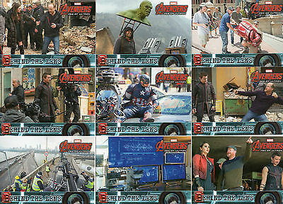 2015 Marvel Avengers Age of Ultron; 15 Card Behind the Lens Chase Set