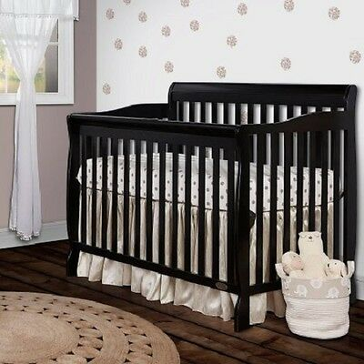 5 -in-1 Convertible Crib Nursery Baby Bed Toddler Full Size Children Bed
