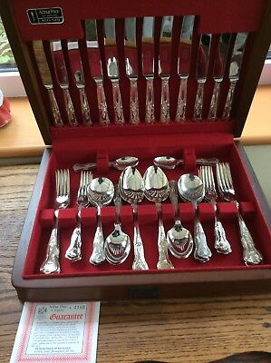 Arthur Price of England Kings Pattern Silver Plate Canteen Cutlery 44 pieces