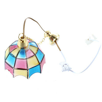 PF Doll house miniature beautiful color ceiling lamp light Hanging lamps