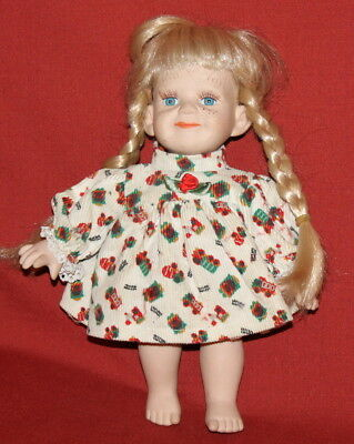 Vintage European Handcrafted Bisque/Cloth Dressed Girl Doll