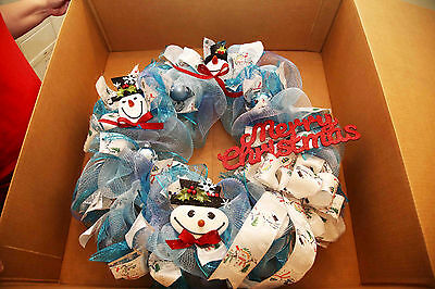 After Christmas Special - Angela's Wreaths & More Blue Christmas Wreath 86
