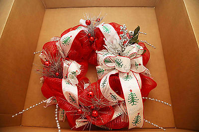 After Christmas Special - Angela's Wreaths & More Red & White Xmas Wreath 88
