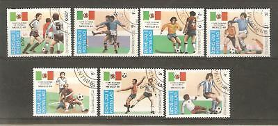 1985   Laos  -  Sg  799 / 805  -  World Cup 1986 -  Used