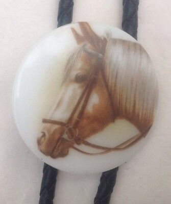 Horse Head Bolo Tie Vintage Classic American Boot Lace Western