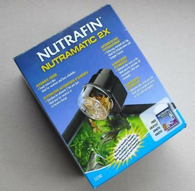 NUTRAFIN NUTRAMATIC 2X Automatic Fish Feeder - Timer Drops Food Every 12 Hours