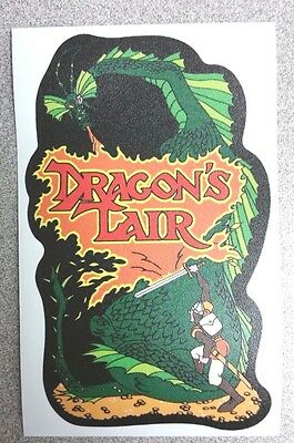 Dragon's Lair cabinet art sticker. 3.25 x 5. (Buy any 3 stickers, GET ONE FREE!)