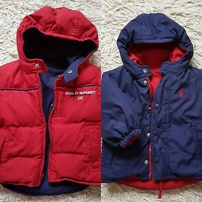 Reversible RALPH LAUREN baby boy winter coat jacket 3 - 12 months