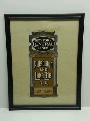 NYC P&LE New York Central Railroad Pittsburgh and Lake Erie Timetable Cover