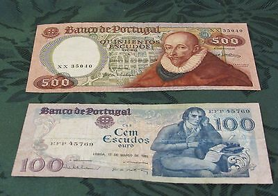 1979 And 1985  Banco De Portugal Bank Note