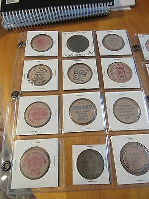 43 Assorted Wooden Coins