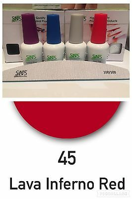 SNS Signature Nail System: 45 LAVA INFERNO RED Full Kit With SNS Nail File