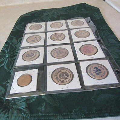 Assorted Wooden Coins