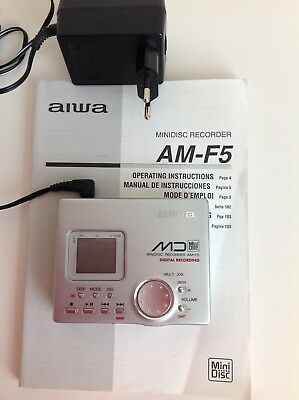 Aiwa Digital Minidisc Recorder AM-F5 with a Manual