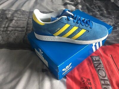 Adidas BUSENITZ Blue & Yellow, Discontinued, LIMITED EDITION, Never Worn!
