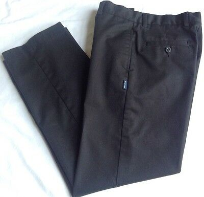 School Uniform Pants Boys Parker Flat Front 14 Black