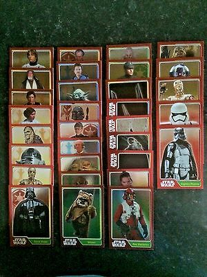 Star Wars: Journey To The The Force Awakens Mirror Foil Cards. Full Set #161-191