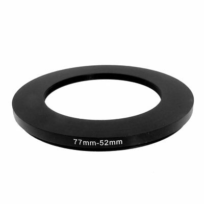 77mm-52mm 77mm to 52mm Black Step Down Ring Adapter for Camera E5Y9