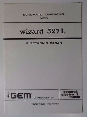 Original Gem Wizard 327L Electronic Organ Schematic Diagrams