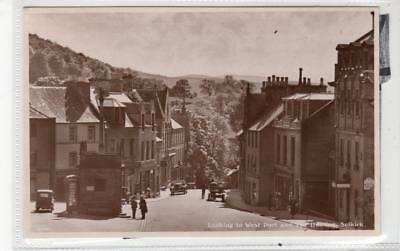 THE WEST PORT AND THE HAINING, SELKIRK: Selkirkshire postcard (C30243)
