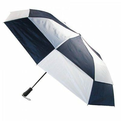 Totes Blue Line Golf-Size Vented Canopy Compact Umbrella Navy/White One  sc 1 st  PicClick & TOTES BLUE LINE Golf-Size Vented Canopy Compact Umbrella Navy/White ...