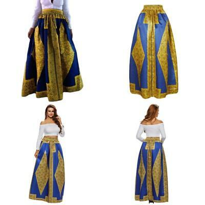Dearlovers Beach Skirt Casual Traditional African Print Maxi Skirts Xx-Large Yel