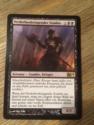 MTG Magic the Gathering - Verderbenbringender Zombie / Lifebane Zombie