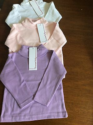 Baby girls spanish roll/ polo neck Bundle tops X3 age 18-24 months BNWT Romany