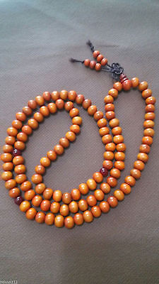 Fragrant Green Sandalwood 108 8MM Buddhist Prayer Bead Mala Necklace/Bracelet.