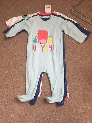 Girls Mothercare Sleepsuits 3-6 months