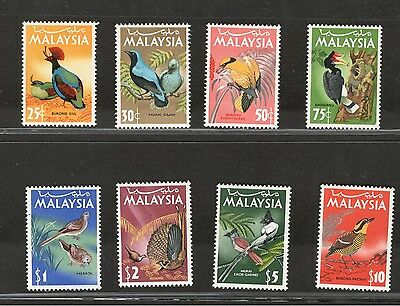 Malaysia 1965 Birds Definitive Complete Mlh Set