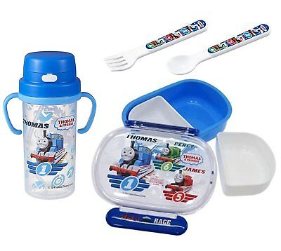 4 Thomas the Tank Engine Products - Thermos with Handles, Lunch Bento Box, Spoon
