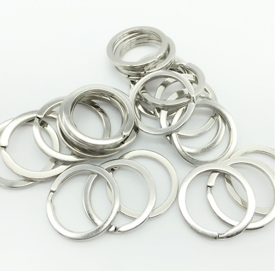 50PCS Silver Steel Key Rings Chains Split Ring Hoop Metal Loop Accessories 25mm