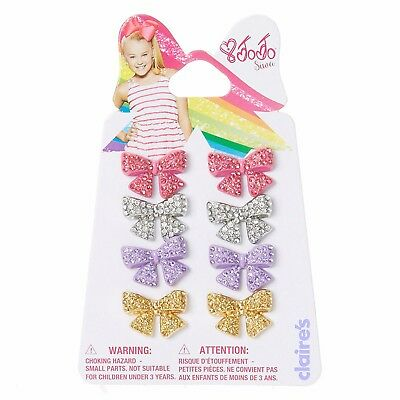 JOJO SIWA RHINESTONE BOW STUD EARRINGS X 4 Brand New READY TO POST!