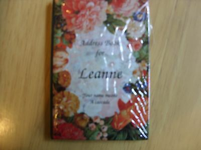 "personalised address book ""leanne"""