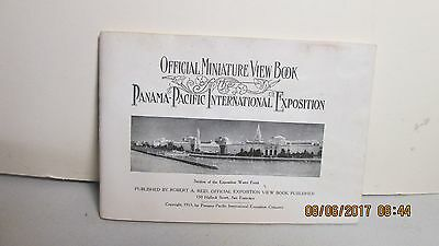1915 Official Miniature View Book of the Panama-Pacific International Exposition