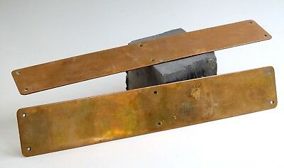 Arts & Crafts pair of large door finger plates - copper
