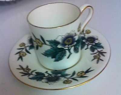 Wedgwood Anemone W4158 Coffee Can and Saucer - excellent condition